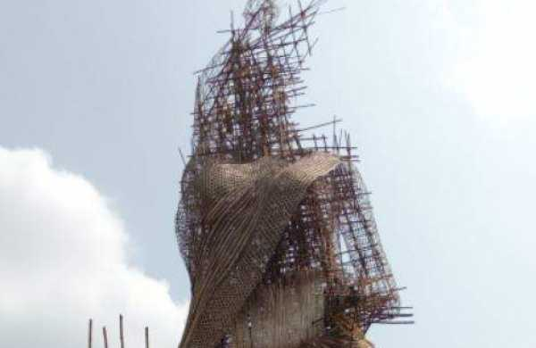 70-ft Durga idol back in the race for world record