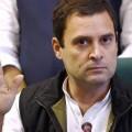 Rahul Gandhi at a press conference