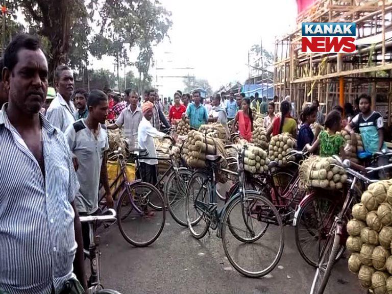 baripada , protest against gst