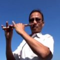 Sikkim man plays flute with nose