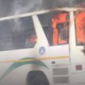Fire Breaks Out in Delhi School Bus