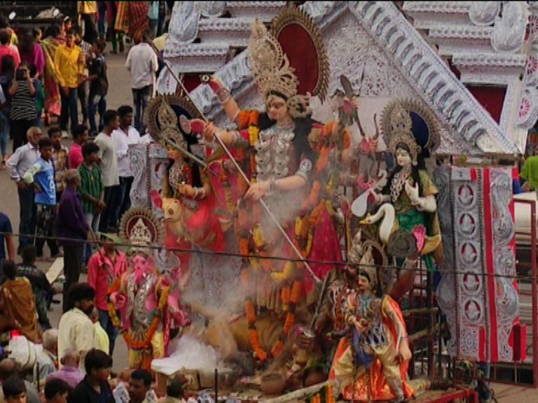 Visarjan ceremony of durga
