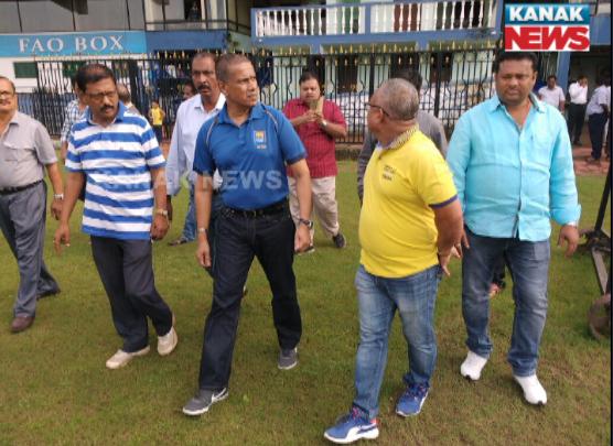 BCCI and Chandima Mapatuna, cricket operation head of srilanka cricket board visiting Barabati Stadium for Ind vs Sri Lanka t20