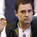 Rahul Gandhi at a press conference