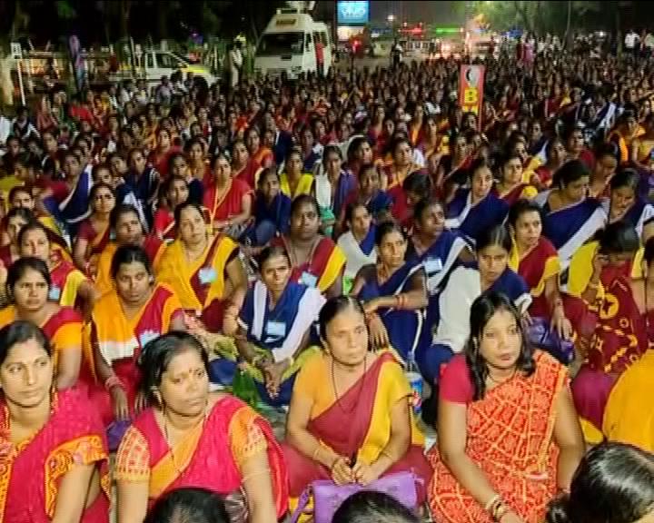 Anganwadi workers strike