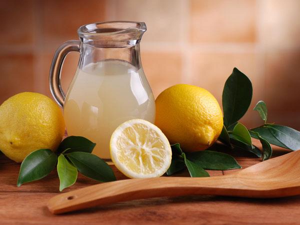 lukewarm lemon water