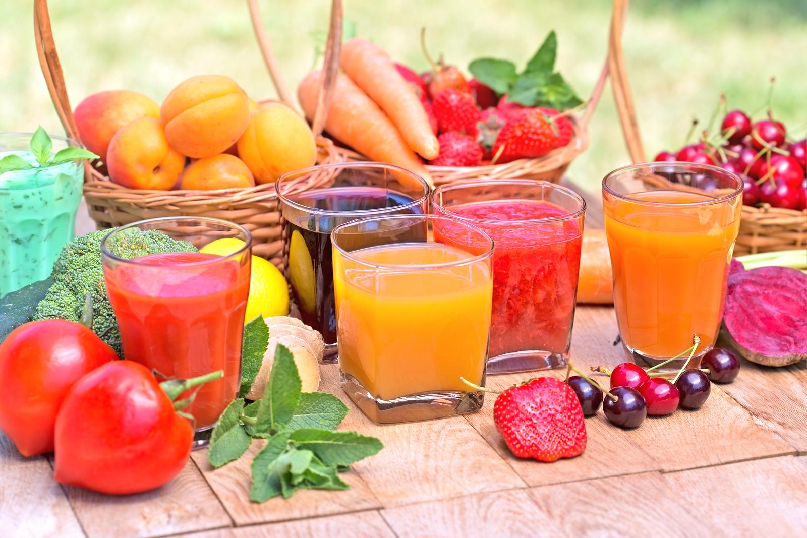 Fruit juice and vegetable juice