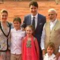 Canada's PM Justin Trudeau and his family meet PM Narendra Modi in New Delhi