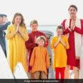 Canadian PM Visits Akshardham Temple In Gandhinagar