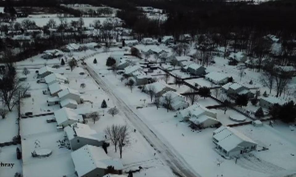 Europe snow fall