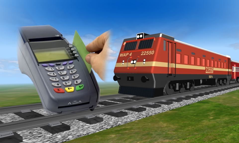 cashless system in train