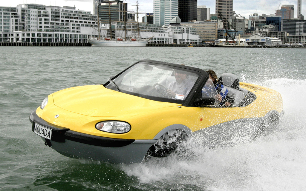 car drive on water