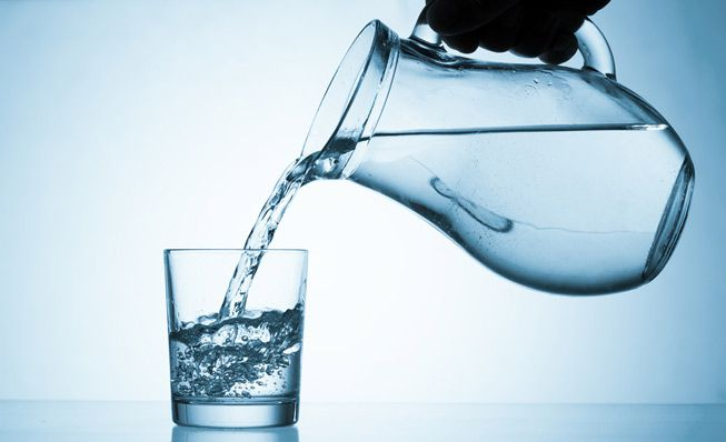 drinking water at morning