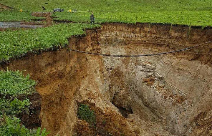 sinkhole at newzland
