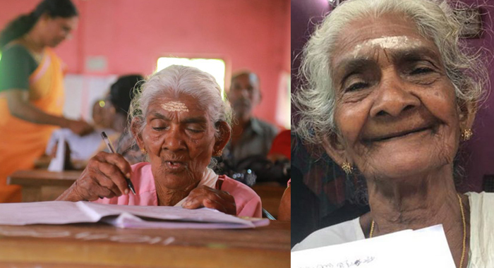 96-years-Karthiyani-Amma-of-Kerala-scores-98-100-marks-in-Aksharalaksham