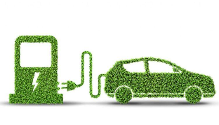 Green EV car