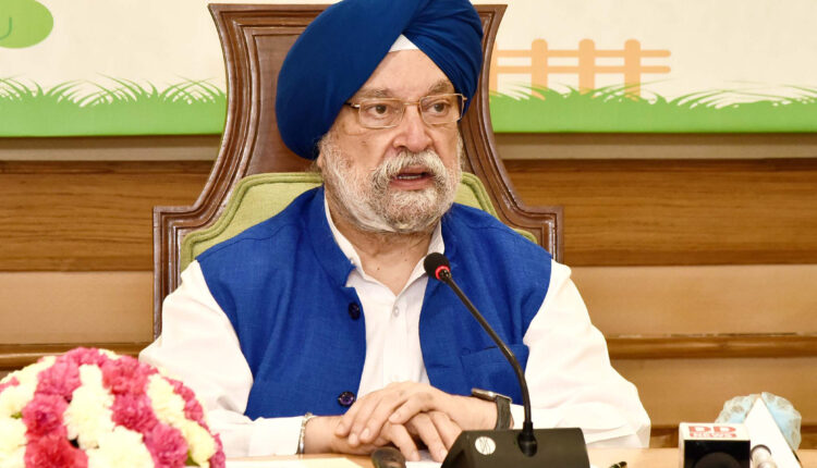 The_Minister_of_State_for_Housing_&_Urban_Affairs,_Civil_Aviation_(Independent_Charge)_and_Commerce_&_Industry,_Shri_Hardeep_Singh_Puri_addressing_at_a_Webinar_in_New_Delhi_on_October_02,_2020