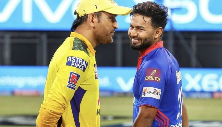 MS-Dhoni-and-Rishabh-Pant-during-the-toss-ceremony-between-CSK-and-DC-IPL-2021-match-2©IPL